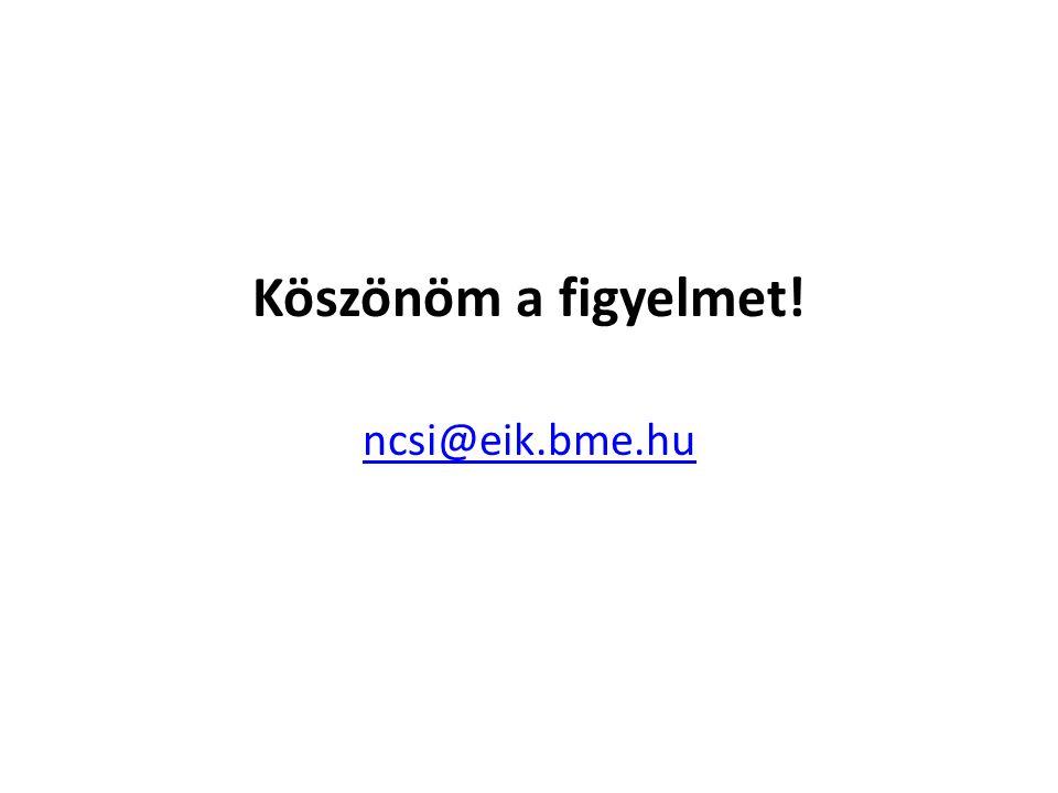 Köszönöm a figyelmet! ncsi@eik.bme.hu