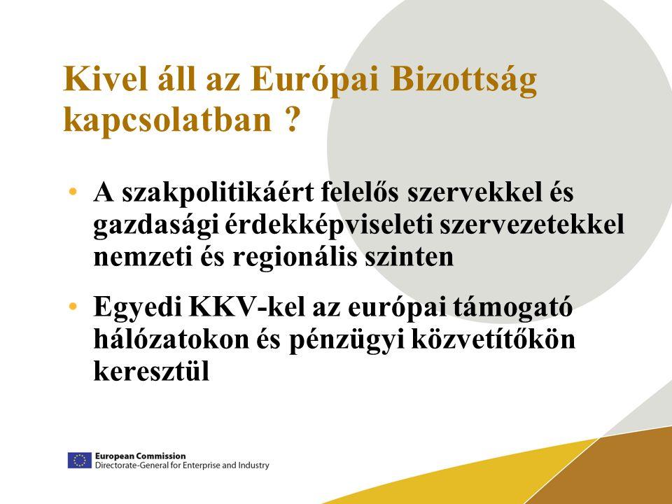 Kivel áll az Európai Bizottság kapcsolatban .