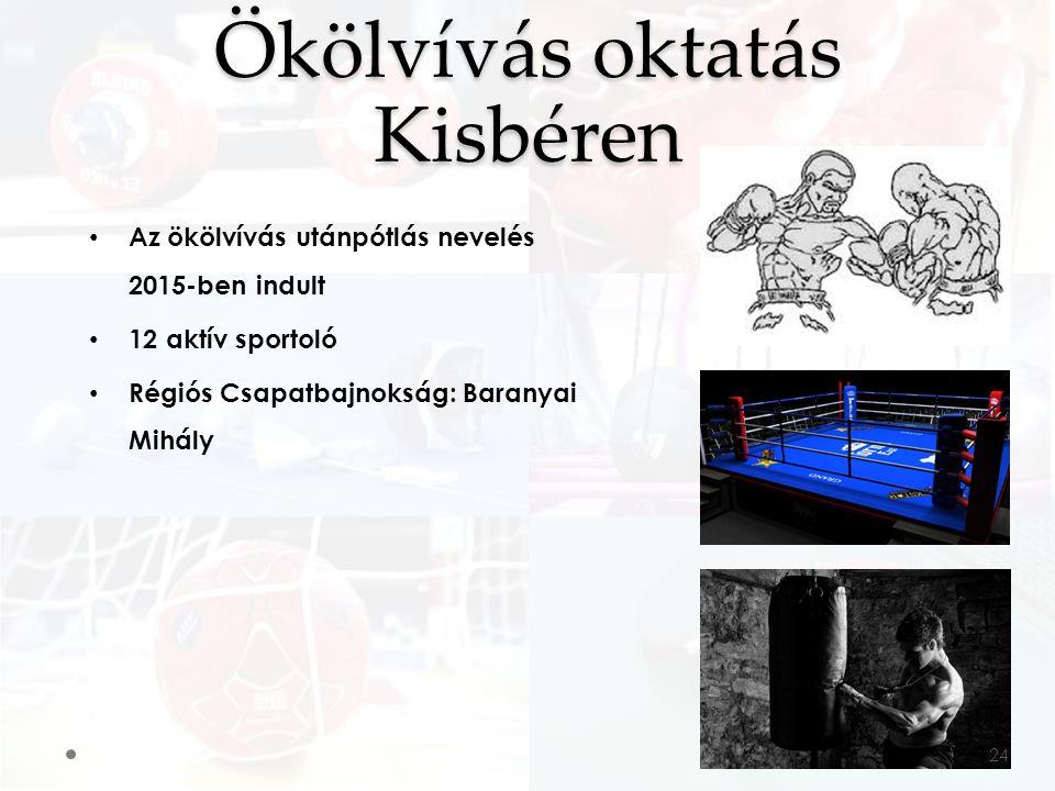 Az ökölvívás utánpótlás nevelés 2015-ben indult 12 aktív sportoló Régiós Csapatbajnokság: Baranyai Mihály Ökölvívás oktatás Kisbéren 24
