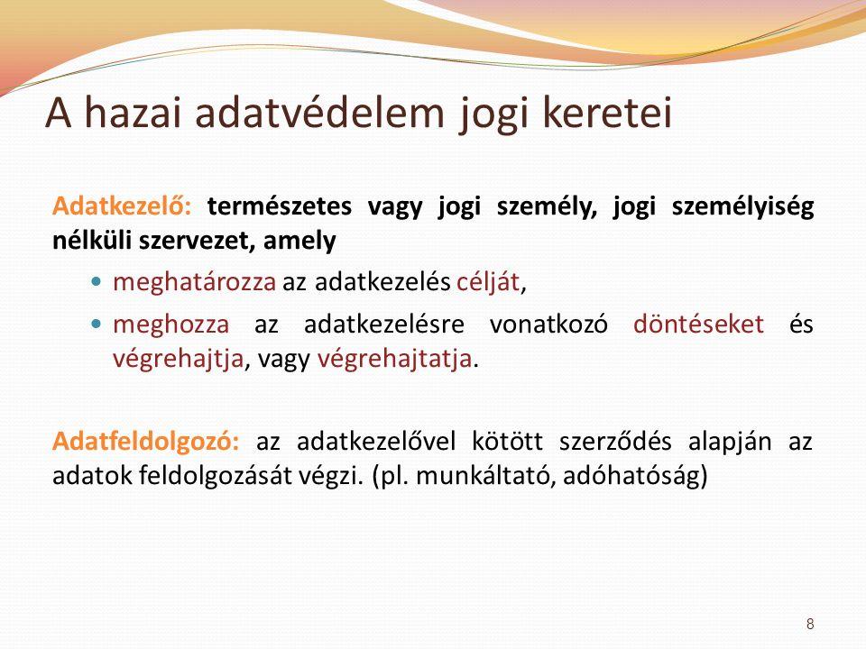 """Minősítési szint Érvényességi időHosszabbítás AlapesetMagánszemély jogos érdekével összefüggésben Magyarország - honvédelmi, - nemzetbiztonsági, - bűnüldözési vagy - igazságszolgáltatási érdekére tekintettel """"Szigorúan titkos! , """"Titkos! 30 év1 x 30 év ∑: 60 év 2 x 30 év ∑: 90 év """"Bizalmas! 20 év1 x 5 év ∑: 25 év 2 x 20 év ∑: 60 év """"Korlátozott terjesztésű! 10 év1 x 5 év ∑: 15 év 2 x 20 év ∑: 50 év Minősített adatvédelem III."""