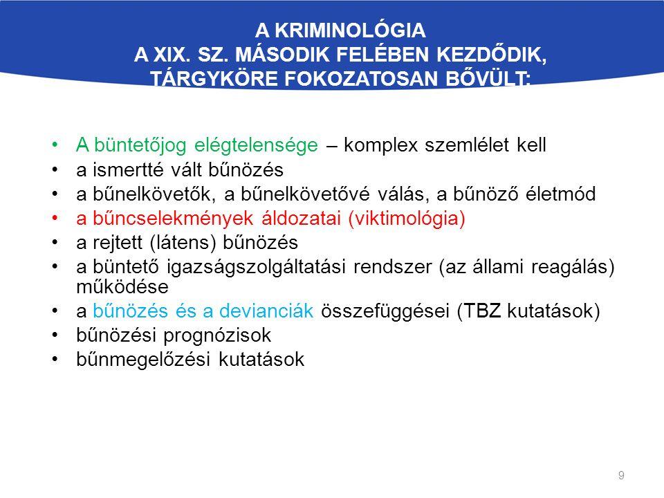 A KRIMINOLÓGIA A XIX. SZ.