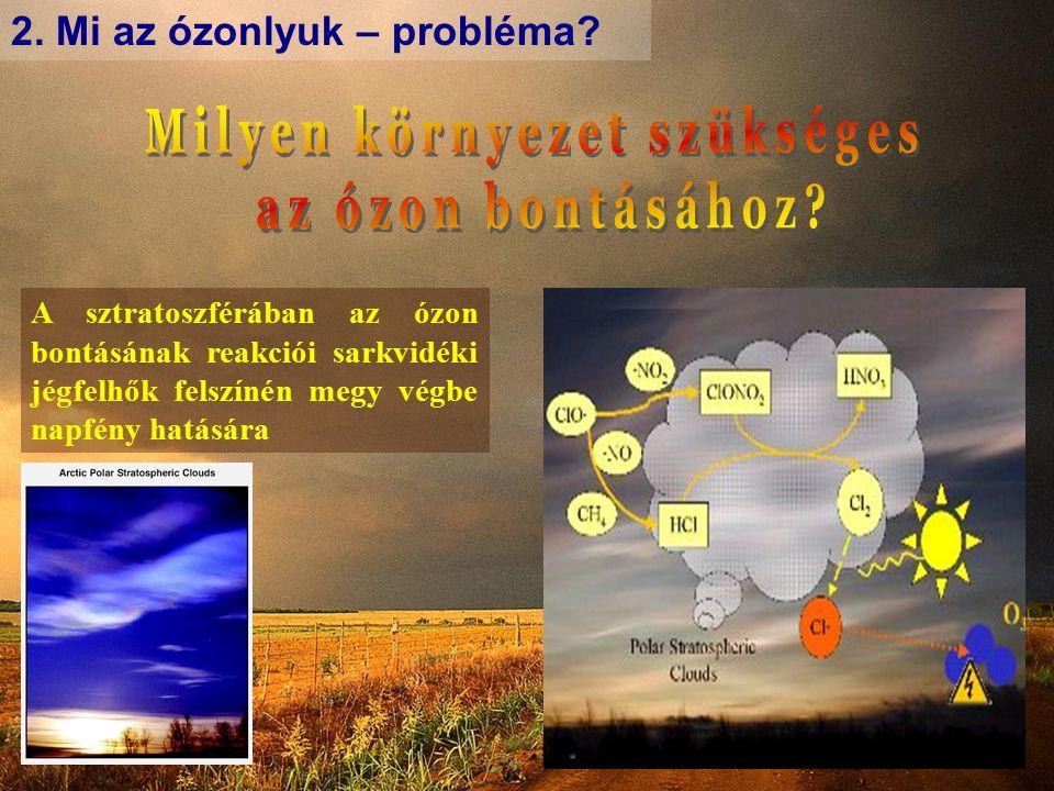 2.Mi az ózonlyuk – probléma.
