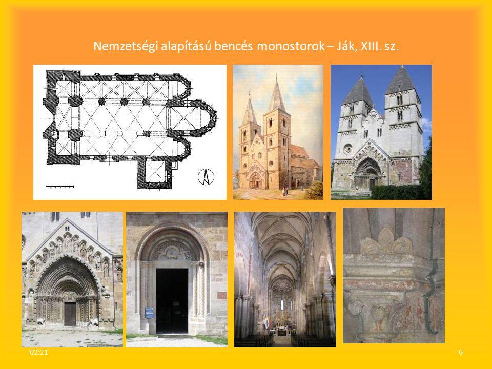 Nemzetségi alapítású bencés monostorok – Ják, XIII. sz. 02:236