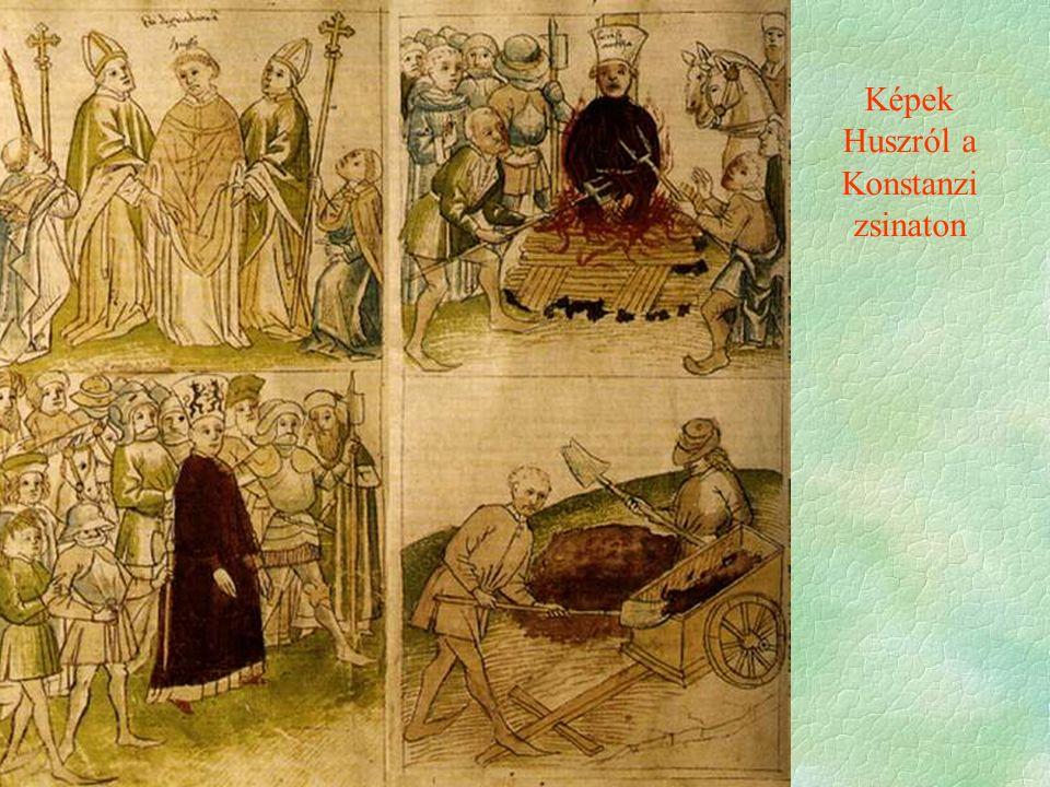 Képek Huszról a Konstanzi zsinaton
