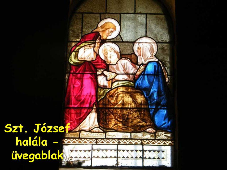 Szt. József halála - üvegablak