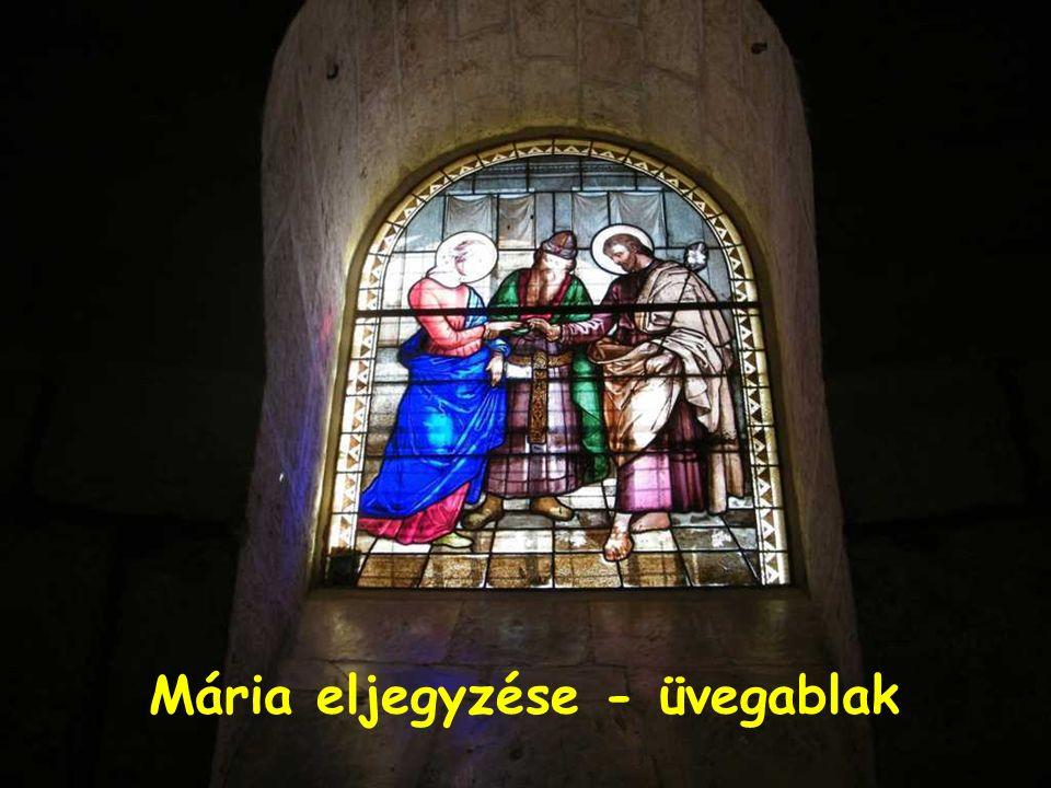 Mária eljegyzése - üvegablak