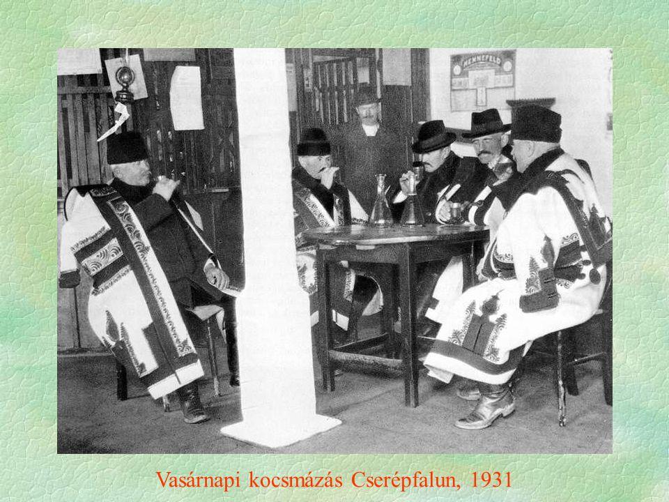 Vasárnapi kocsmázás Cserépfalun, 1931
