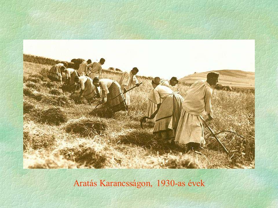 Aratás Karancsságon, 1930-as évek