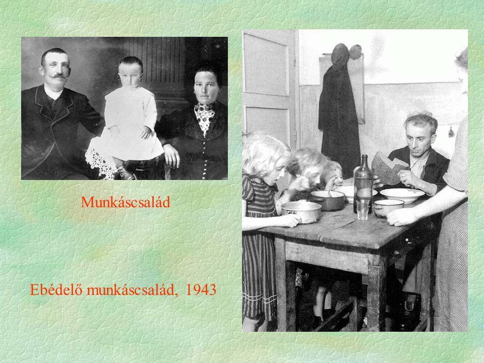 Munkáscsalád Ebédelő munkáscsalád, 1943