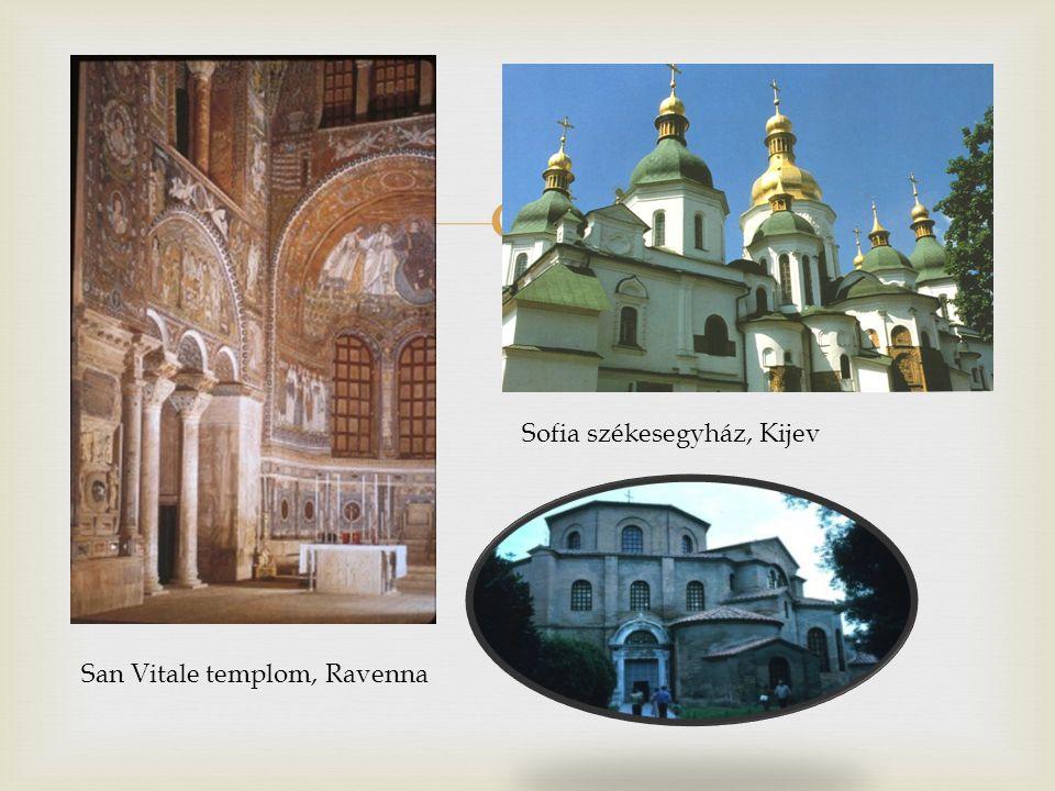  San Vitale templom, Ravenna Sofia székesegyház, Kijev