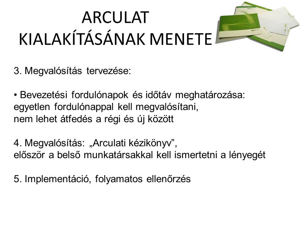 ARCULAT KIALAKÍTÁSÁNAK MENETE 3.