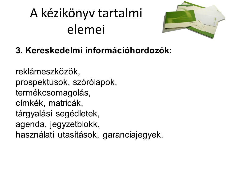 A kézikönyv tartalmi elemei 3.