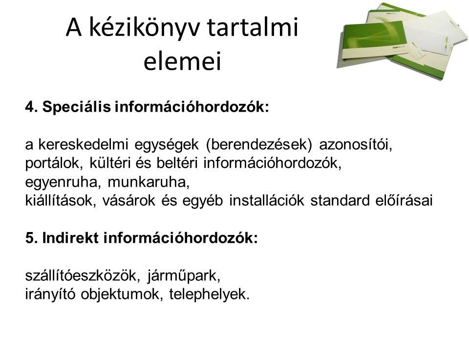 A kézikönyv tartalmi elemei 4.