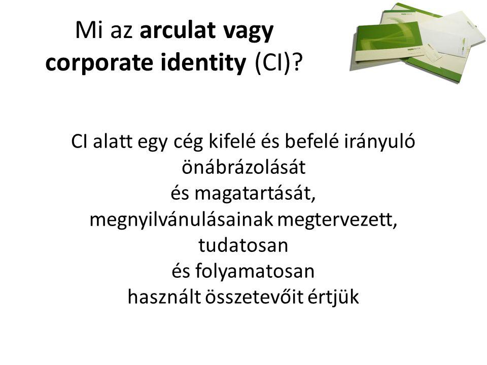 Mi az arculat vagy corporate identity (CI).