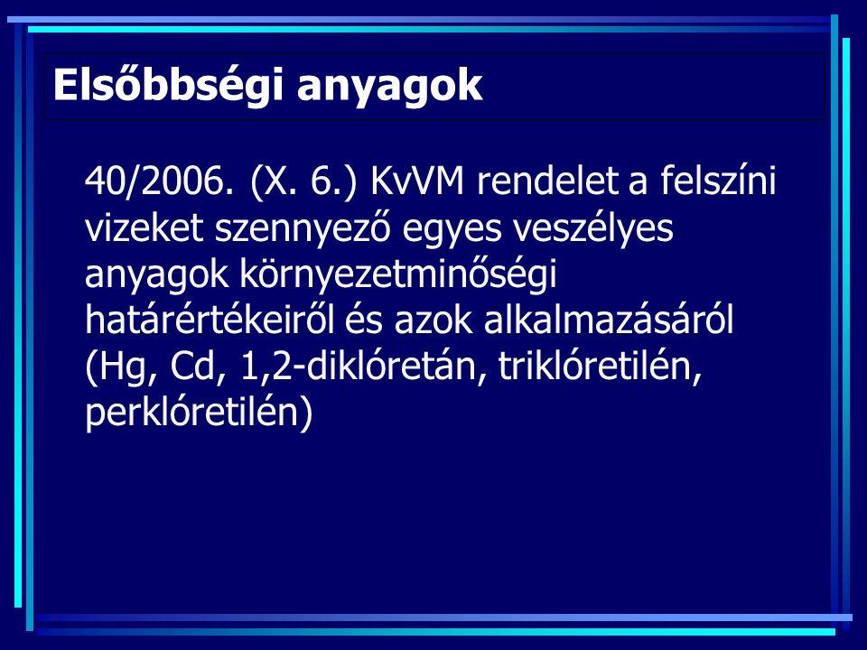 Elsőbbségi anyagok 40/2006. (X.