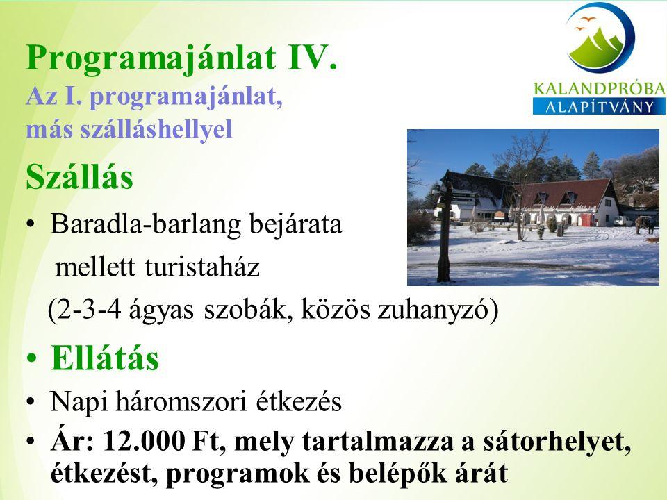 Programajánlat IV. Az I.