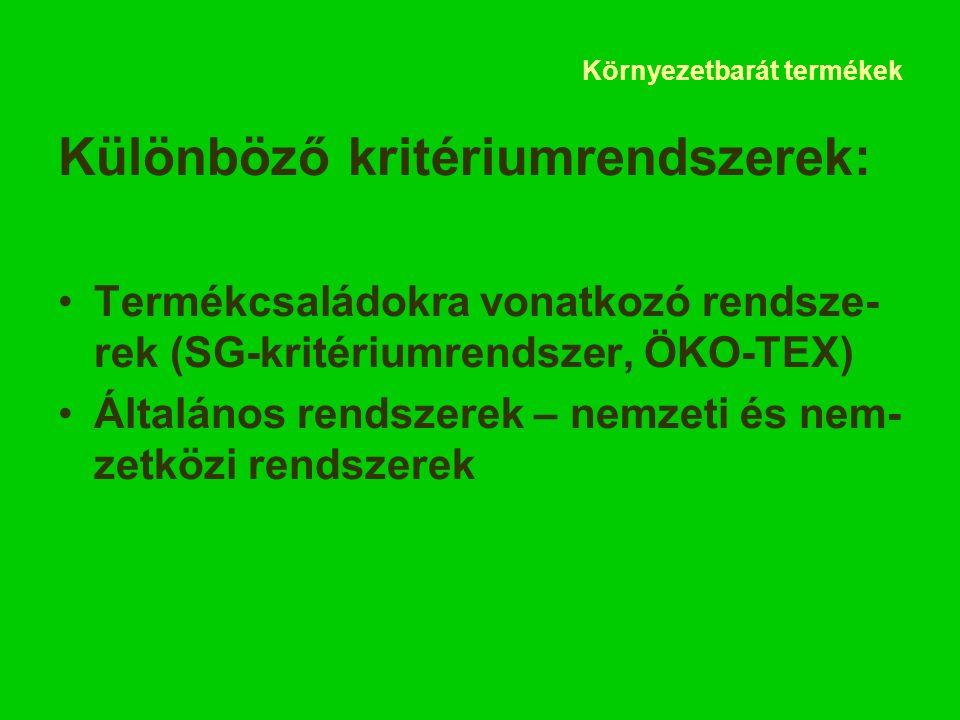 """Környezetbarát termékek A magyar """"Környezetbarát ter- mék védjegy"""