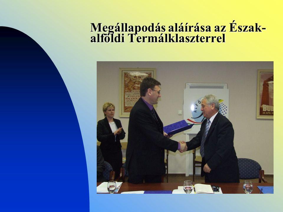 Megállapodás aláírása az Észak- alföldi Termálklaszterrel