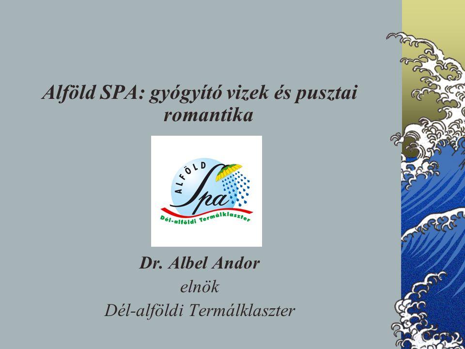 Alföld SPA: gyógyító vizek és pusztai romantika Dr. Albel Andor elnök Dél-alföldi Termálklaszter