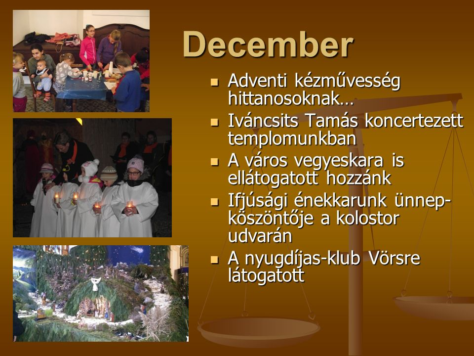 November Ministránsok őszi túrája a Zselicben Ministránsok őszi túrája a Zselicben Megalakul az Egyházi Nyugdíjas Klub Megalakul az Egyházi Nyugdíjas Klub