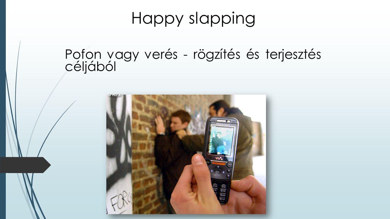 Happy slapping Pofon vagy verés - rögzítés és terjesztés céljából