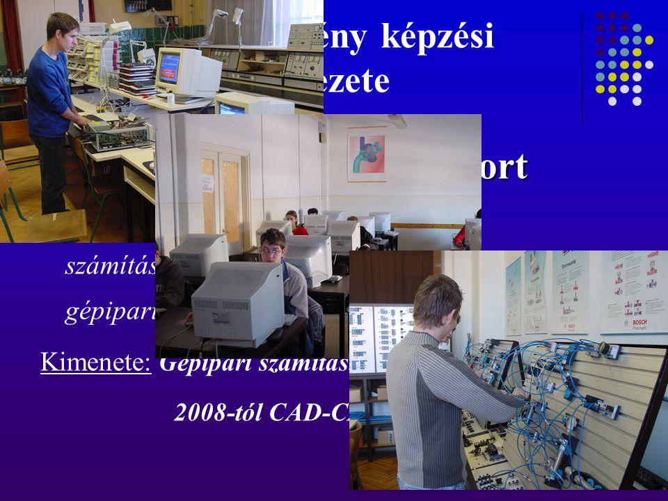 A tagintézmény képzési szerkezete Informatika szakmacsoport Informatika szakmacsoport A képzés szakmailag felkészít a számítástechnikai és informatikai rendszerek gépipari alkalmazására, kezelésére, működtetésére.