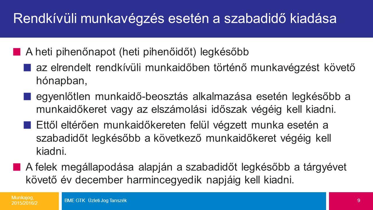 Példa: Forrás: http://slideplayer.hu/slide/8028312/http://slideplayer.hu/slide/8028312/ Munkajog, 2015/2016/2.