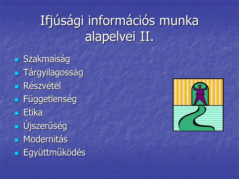 Ifjúsági információs munka alapelvei II.