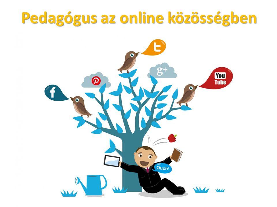 Pedagógus az online közösségben Információszerzés: újdonságok, aktualitások Kapcsolatépítés Közösséghez tartozás Együttműködés (pl.