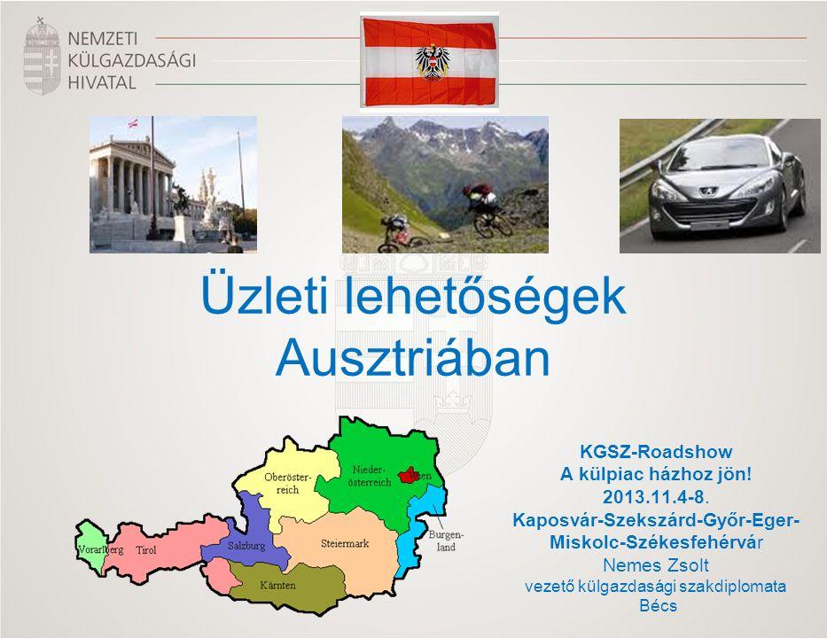 KGSZ-Roadshow A külpiac házhoz jön! 2013.11.4-8. Kaposvár-Szekszárd-Győr-Eger- Miskolc-Székesfehérvár Nemes Zsolt vezető külgazdasági szakdiplomata Bé