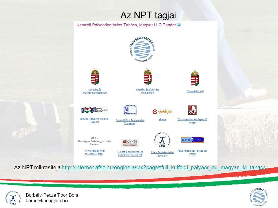 Borbély-Pecze Tibor Bors borbelytibor@lab.hu Az NPT tagjai Az NPT mikrositeja http://internet.afsz.hu/engine.aspx?page=full_kulfoldi_palyaor_eu_magyar