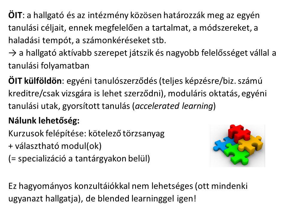 BL: kontaktóra és e-learning együttes alkalmazása De.