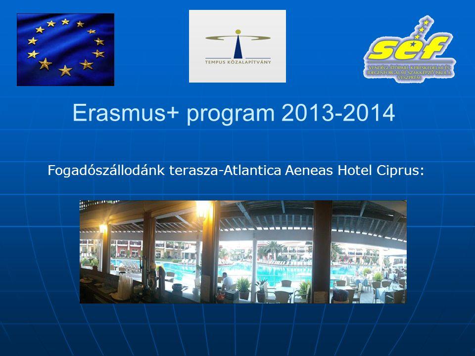 Erasmus+ program 2013-2014 Fogadószállodánk terasza-Atlantica Aeneas Hotel Ciprus: