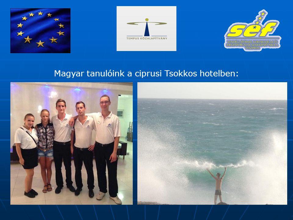 Magyar tanulóink a ciprusi Tsokkos hotelben: