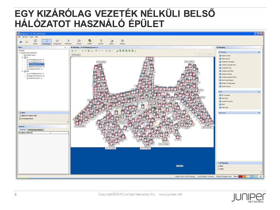 39 Copyright © 2010 Juniper Networks, Inc. www.juniper.net WLC – FŐBB JELLEMZŐK ÖSSZEHASONLÍTÁSA