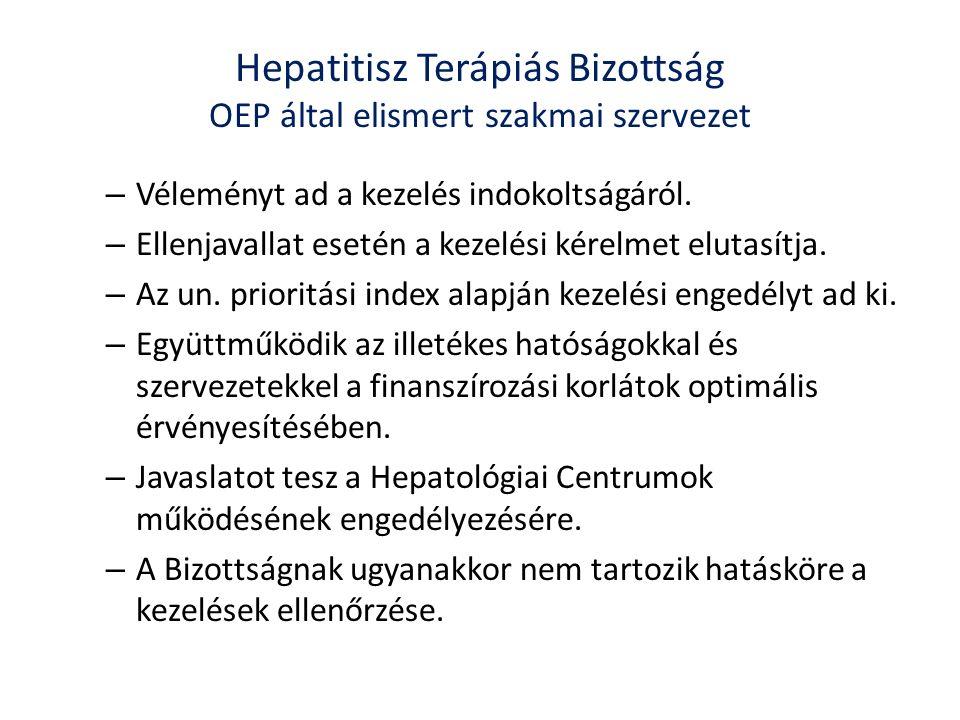 Hepatitisz Terápiás Bizottság OEP által elismert szakmai szervezet – Véleményt ad a kezelés indokoltságáról.