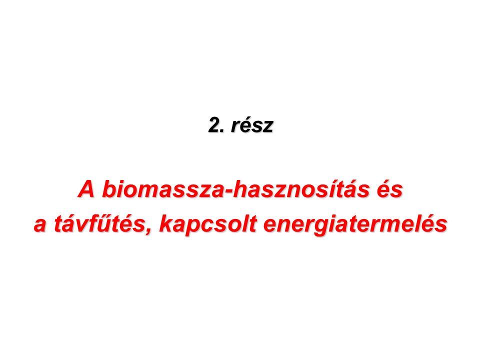 2. rész A biomassza-hasznosítás és a távfűtés, kapcsolt energiatermelés