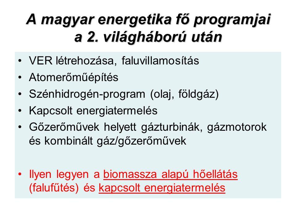 A magyar energetika fő programjai a 2.