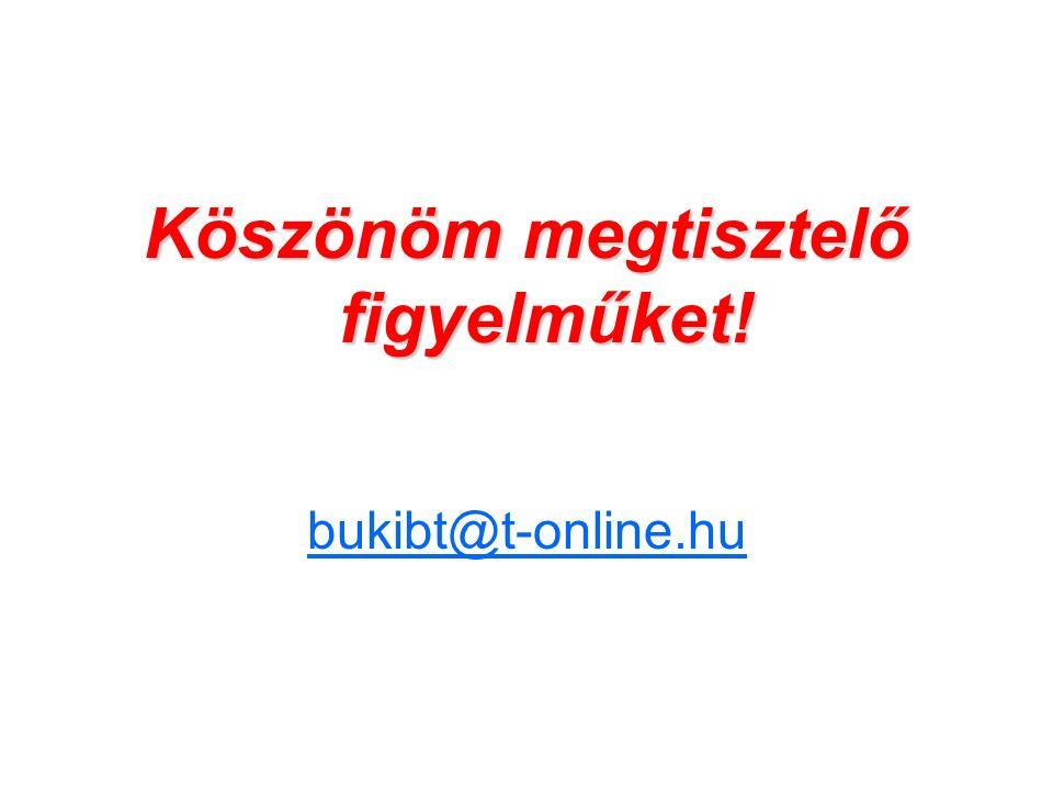 Köszönöm megtisztelő figyelműket! bukibt@t-online.hu