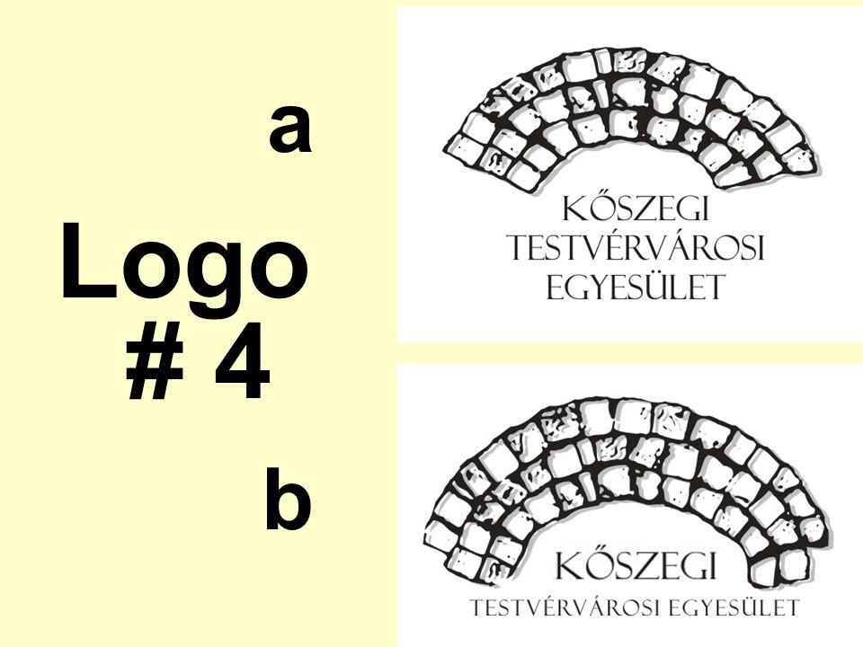 a Logo # 4 b
