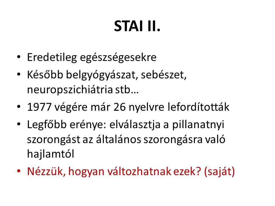 STAI III.