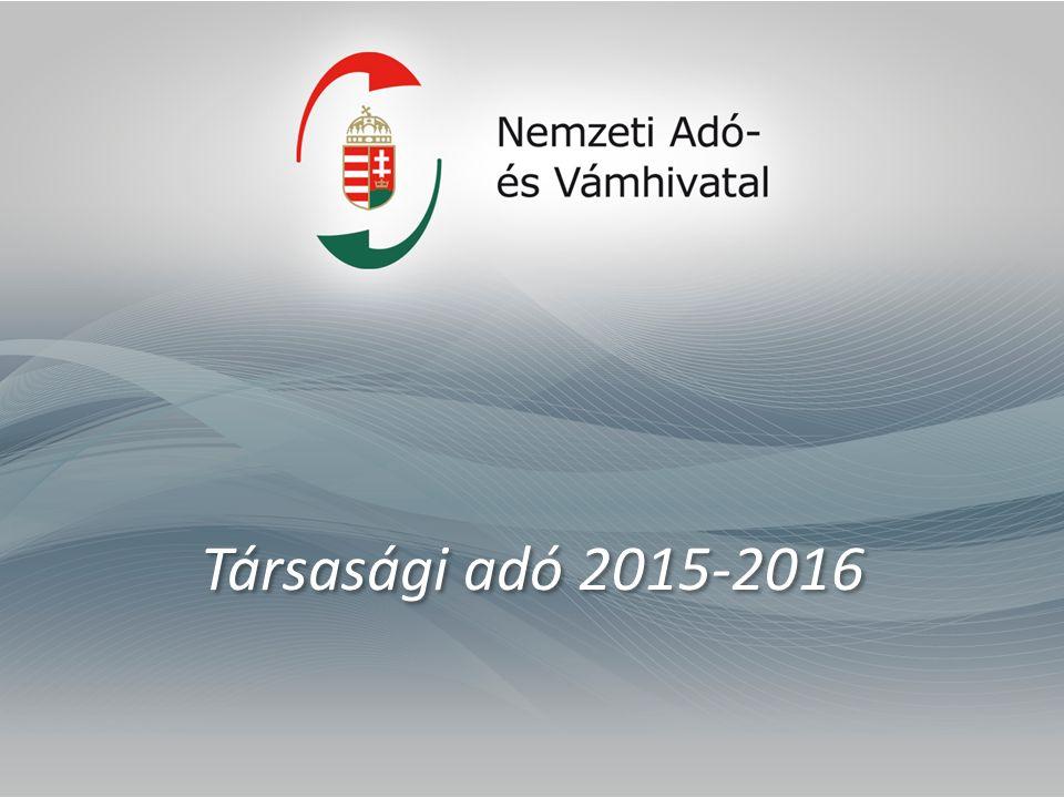 Társasági adó 2015-2016