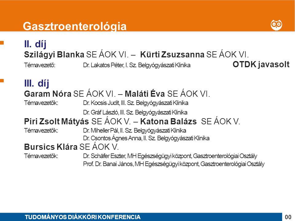1 II. díj Szilágyi Blanka SE ÁOK VI. – Kürti Zsuzsanna SE ÁOK VI.