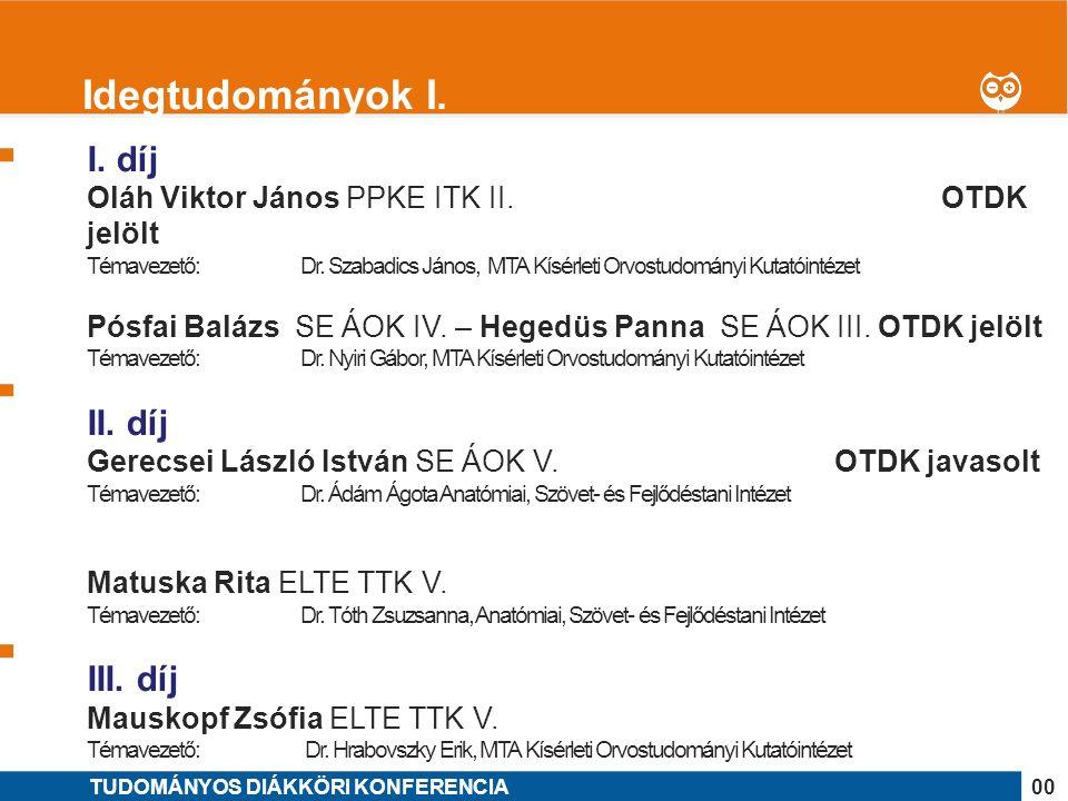 1 I. díj Oláh Viktor János PPKE ITK II. OTDK jelölt Témavezető: Dr.