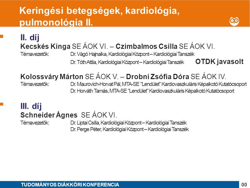 1 II. díj Kecskés Kinga SE ÁOK VI. – Czimbalmos Csilla SE ÁOK VI.