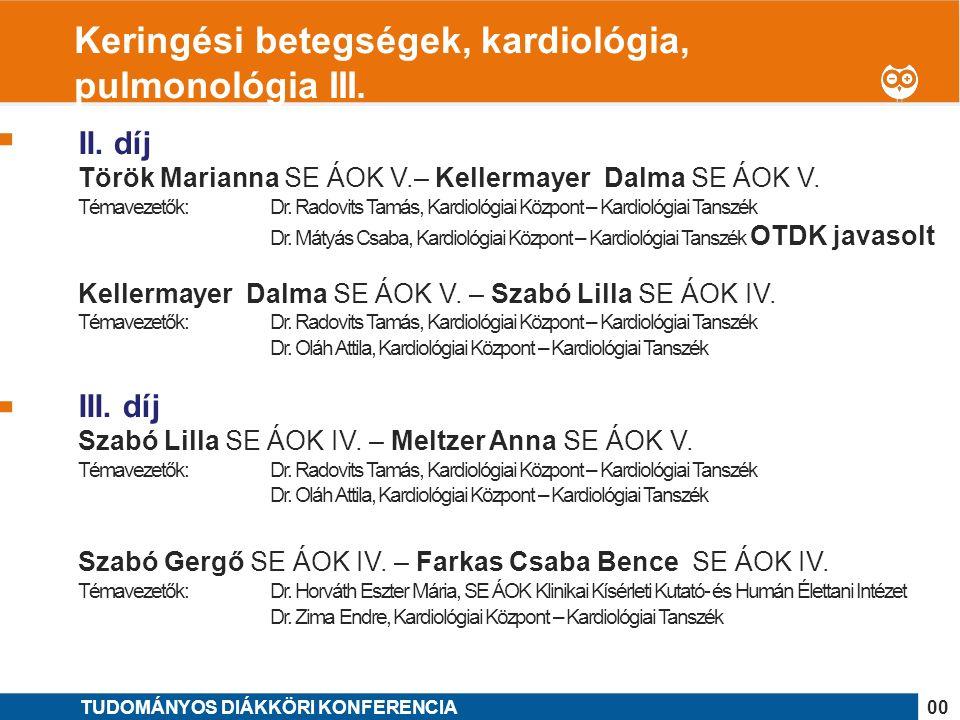 1 II. díj Török Marianna SE ÁOK V.– Kellermayer Dalma SE ÁOK V.