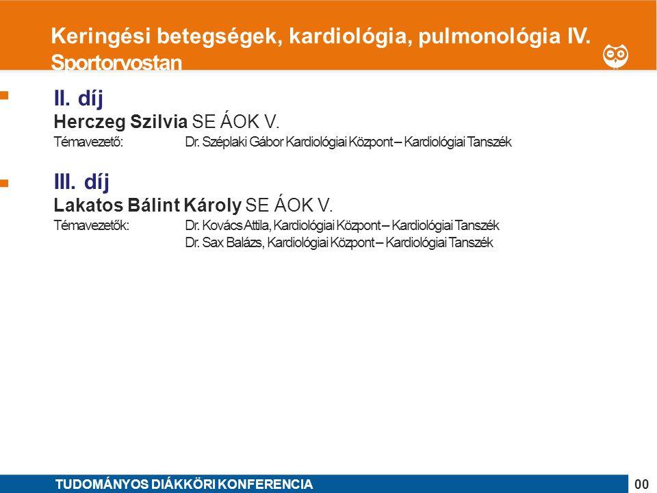 1 II. díj Herczeg Szilvia SE ÁOK V. Témavezető: Dr.