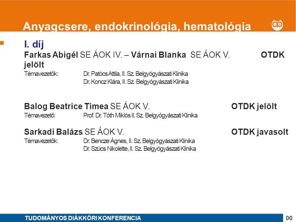 1 I.díj Gángó Ambrus Péter SE ÁOK V. OTDK jelölt Témavezető: Dr.