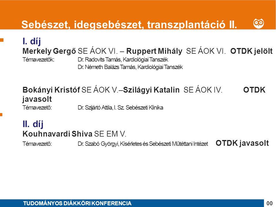 1 I. díj Merkely Gergő SE ÁOK VI. – Ruppert Mihály SE ÁOK VI.