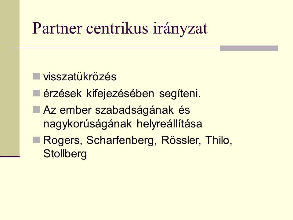 Partner centrikus irányzat visszatükrözés érzések kifejezésében segíteni.
